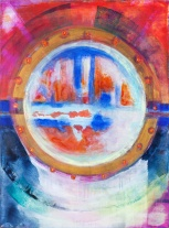 Porthole acrylic on canvas