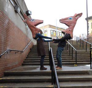 Dancing deers